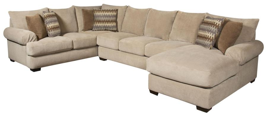 Corinthian 61A0 Sectional Sofa with Right Side Chaise   Furniture     Corinthian 61A0 Sectional Sofa with Right Side Chaise   Item Number   61A3LC NA
