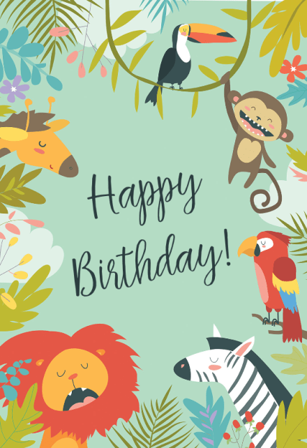 Birthday Cards For Kids Free Greetings Island