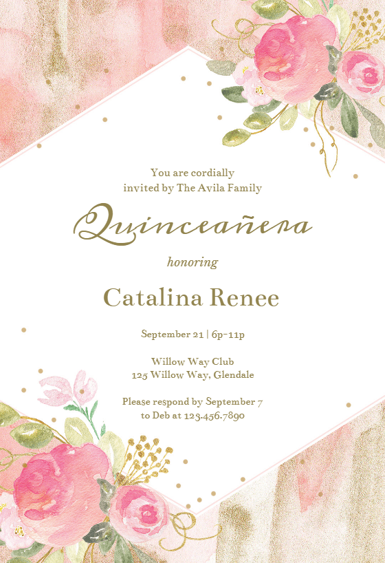 Invitation Wedding Pink
