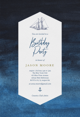 Nautical Yacht - Birthday Invitation Template (free ...