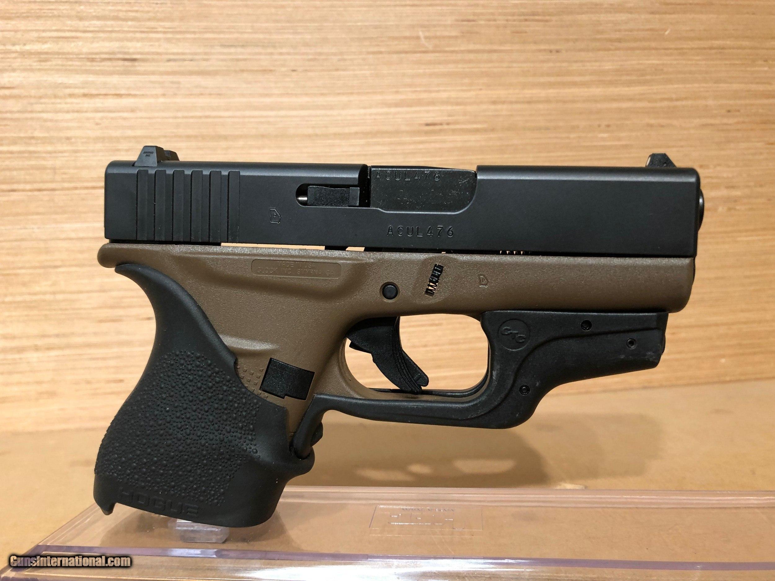 """Glock 43 Single Stack Pistol PI4350201, 9mm, 3.39"""", Black ..."""