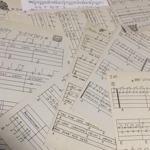 DIY für alte Notenblätter? (Musik, Gitarre, basteln)