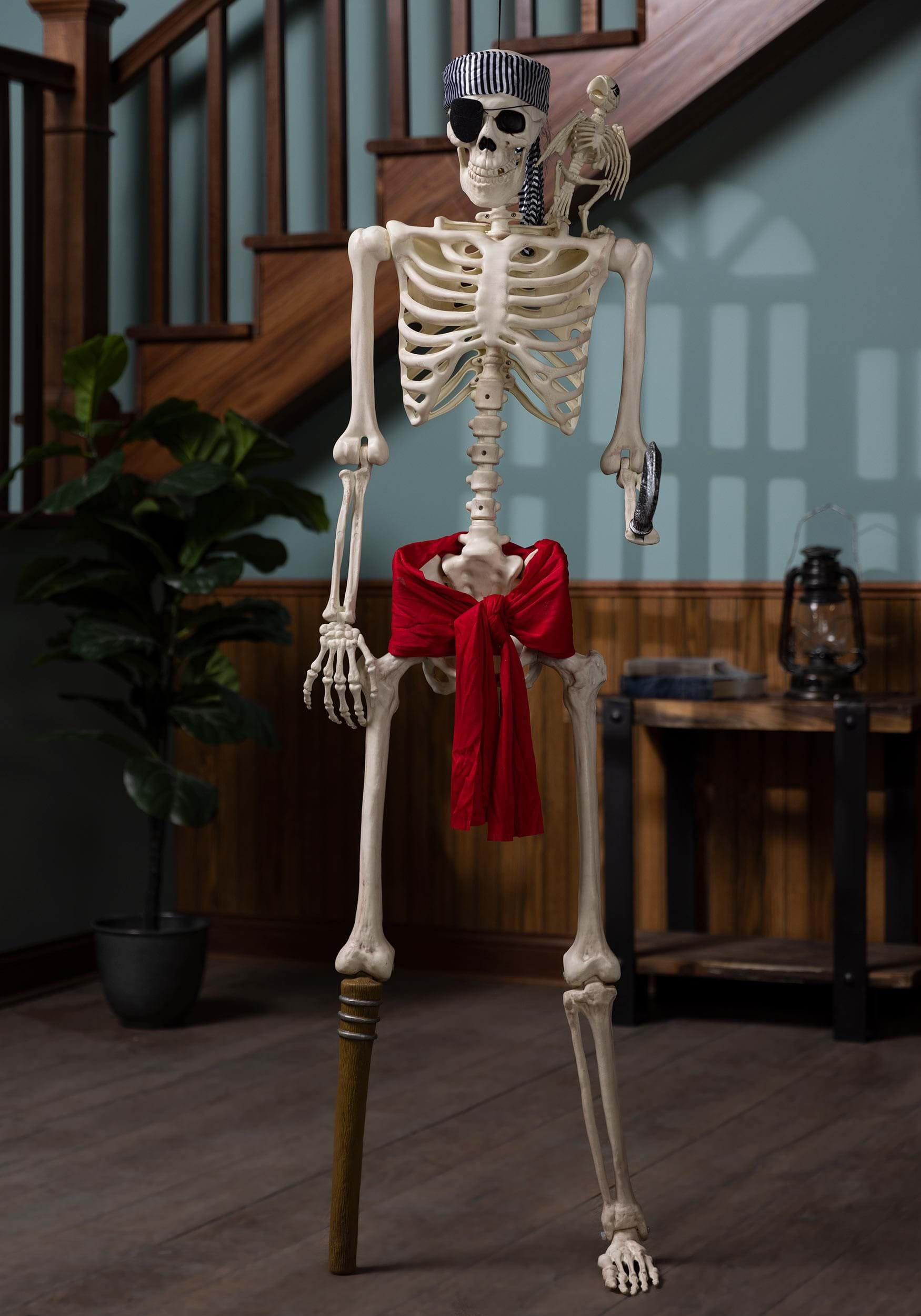halloween skeleton pirate life size