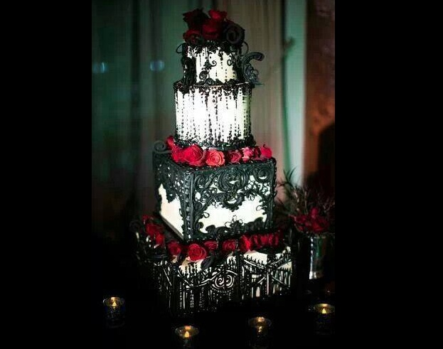 Just Some Beautifully Dark Wedding Cakes For The Gothic