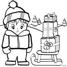christmas present coloring pages # 29