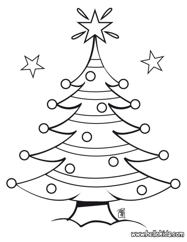 coloring pages of christmas trees # 4