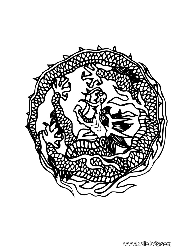 Happy Chinese New Year Coloring Pages Hellokids