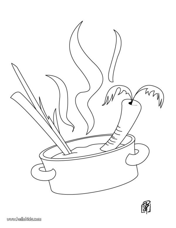 cooking coloring pages # 12