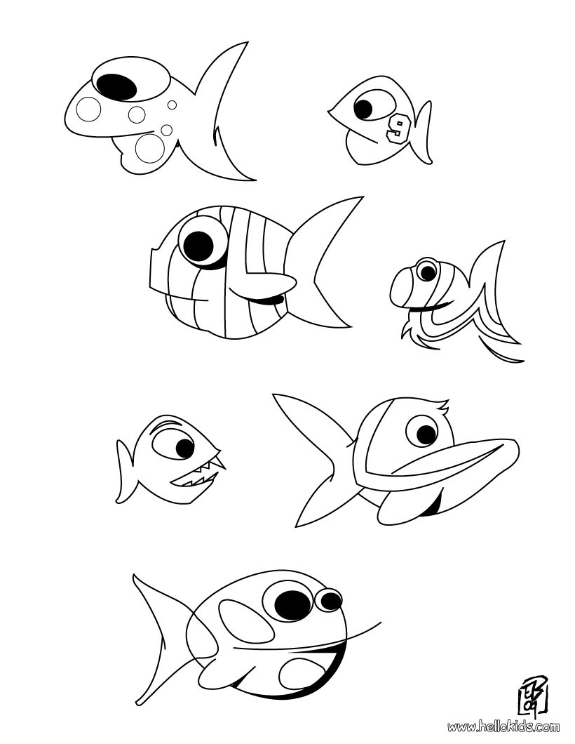 Big Fish Coloring Pages Hellokids