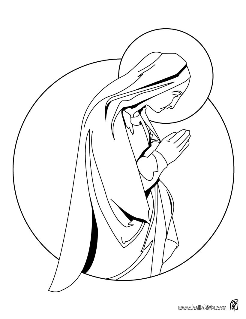 Nativity Scene Coloring Pages Hellokids