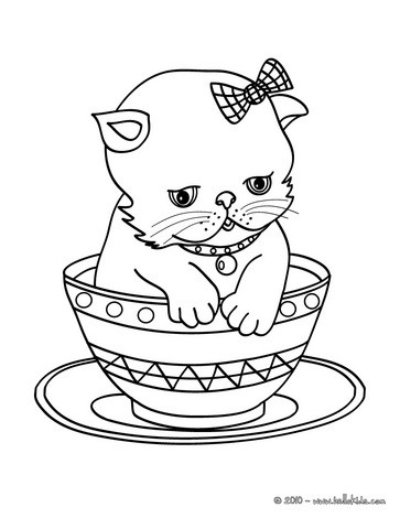 free cat coloring pages # 7