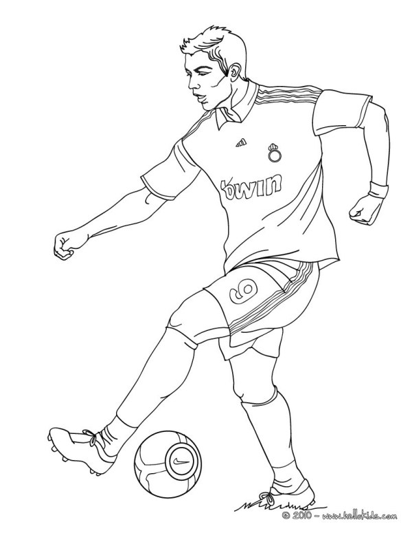 soccer coloring page # 9