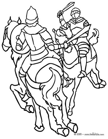 knights coloring pages # 64
