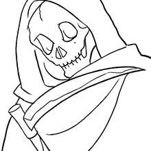 grim reaper coloring pages # 14
