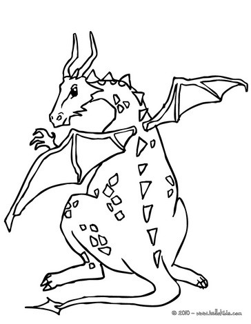 coloring pages dragon # 38