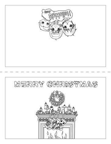christmas card coloring pages # 9
