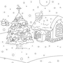 christmas trees coloring pages # 51