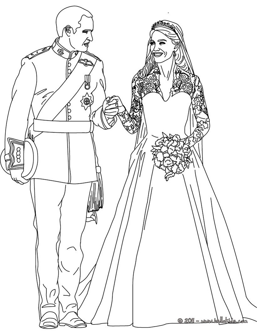 Wedding Coloring Pages Reading Learning Drawing For Kids