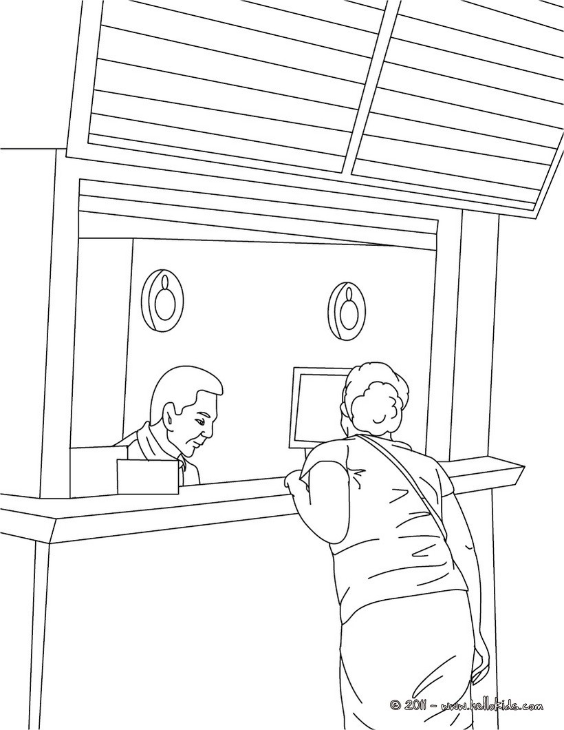 Train Station Jobs Coloring Pages 6 Free Coloring Pages People