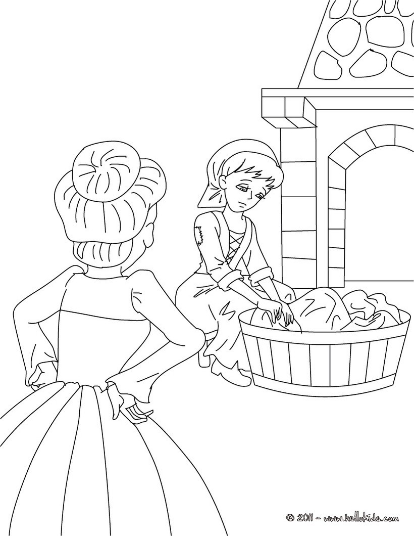 Cinderella Coloring Pages Videos For Kids Free Online Games
