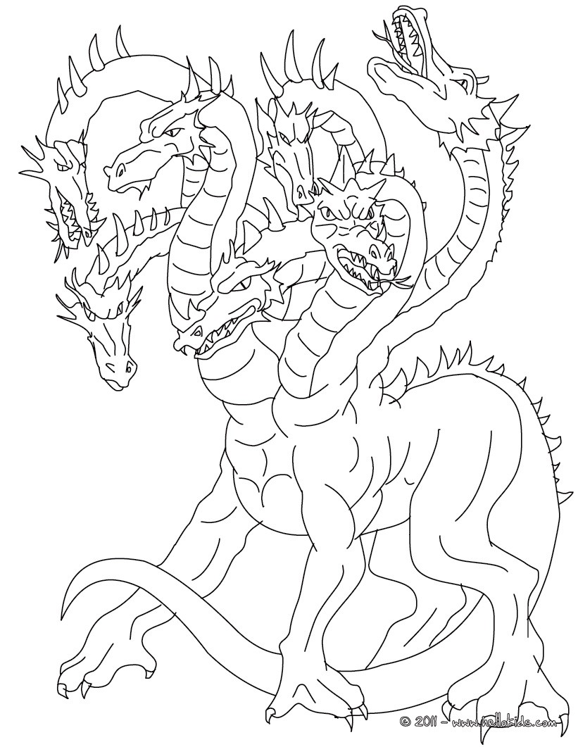 Greek Fabulous Creatures And Monsters Coloring Pages Coloring