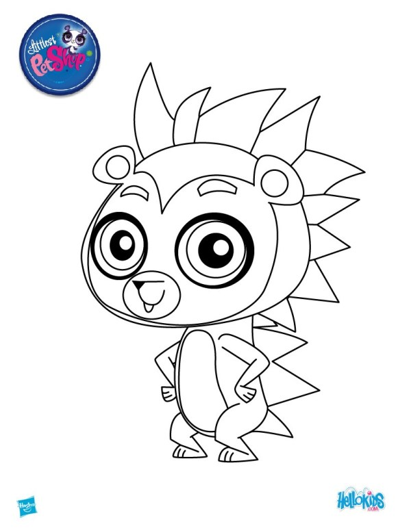 little pet shop coloring pages # 14