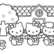 hello kitty free coloring pages # 9