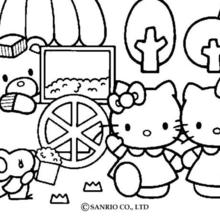 hello kitty coloring pages that you can print # 11