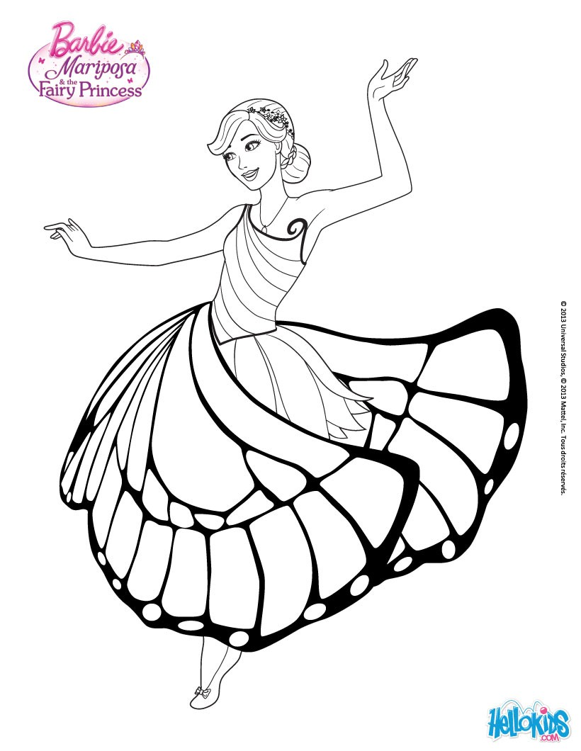 Princess Catania Is Dancing Coloring Pages Hellokids