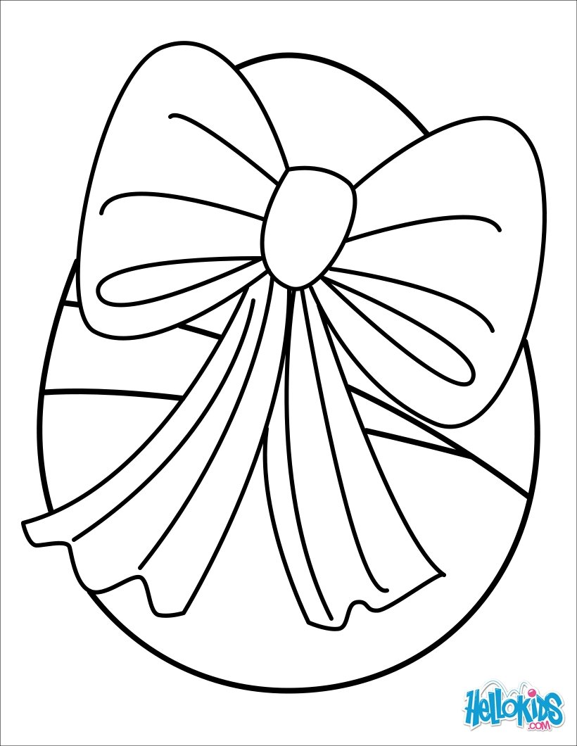 Striped Easter Egg Coloring Pages Hellokids