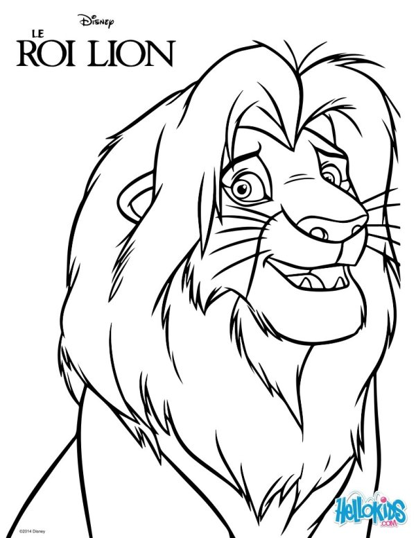 lion king coloring page # 2