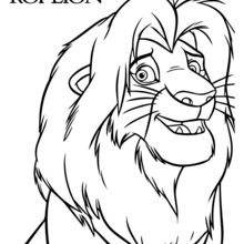 simba coloring page # 6