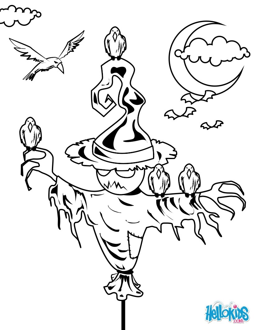 Scarecrow Coloring Pages 17 Printables To Color Online For Halloween