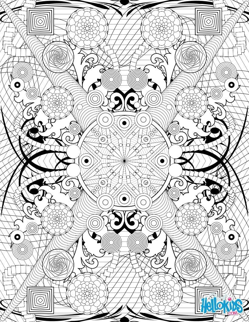Mandala Coloring Pages Hellokids