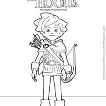 robin hood coloring pages # 1