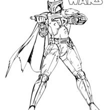 boba fett coloring page # 9