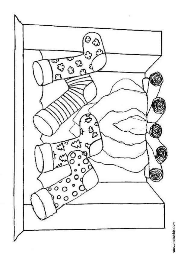 christmas stockings coloring pages # 60