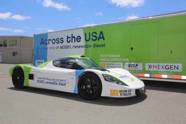 Update Single Tank Of Renewable Diesel Fuel Takes Car