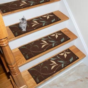 Carpet Stair Tread Covers Rugs The Home Depot | Home Depot Stair Rugs | Non Slip | Beige | Stratford Kazmir | Stair Treads | Tread Covers