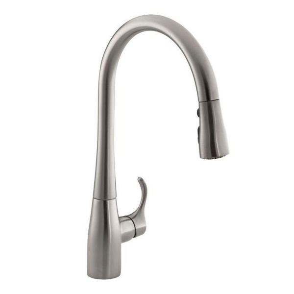 KOHLER Simplice Single Handle Pull Down Sprayer Kitchen Faucet with     KOHLER Simplice Single Handle Pull Down Sprayer Kitchen Faucet with  DockNetik and Sweep Spray