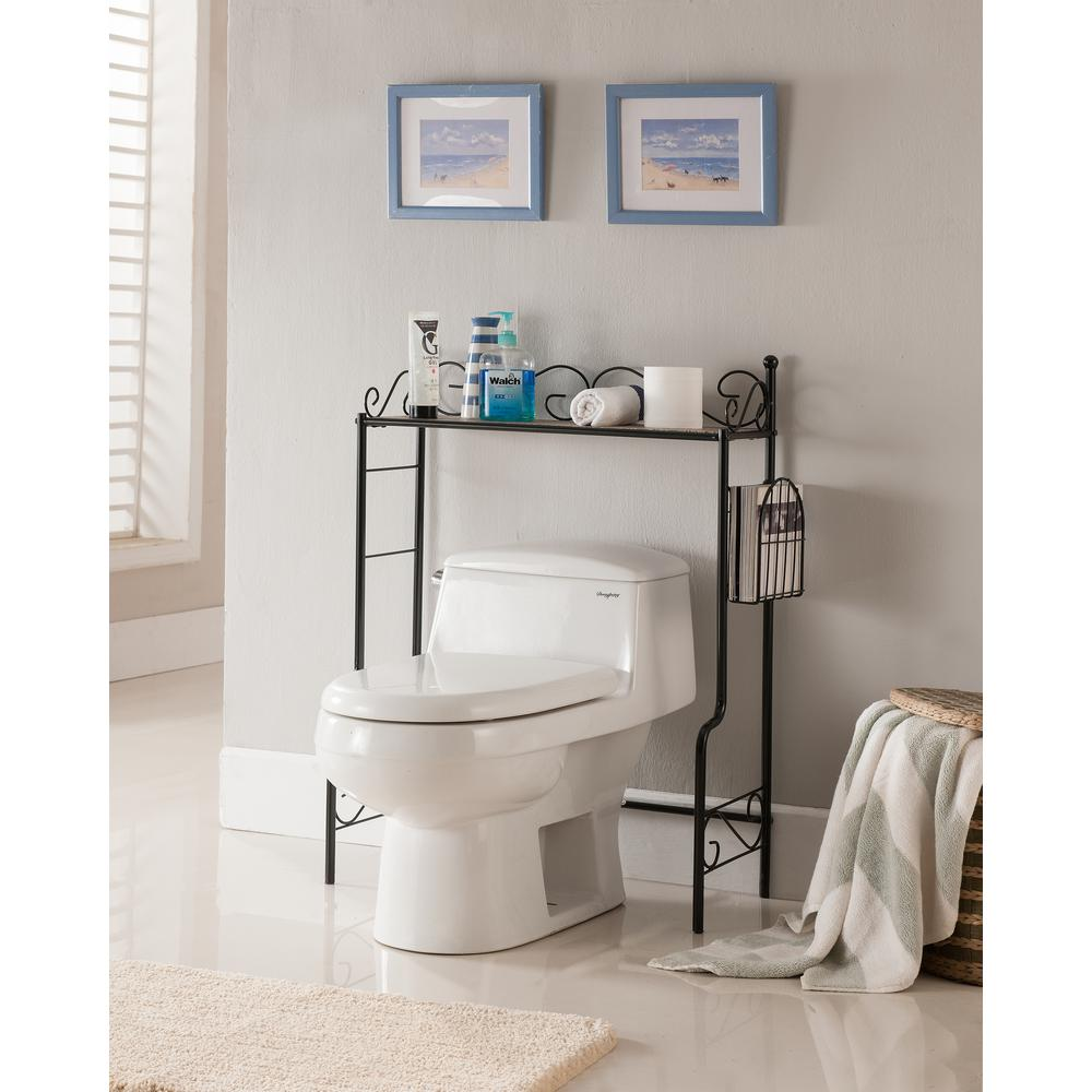 Kings Brand Furniture Black Freestanding Etagere Bathroom ...