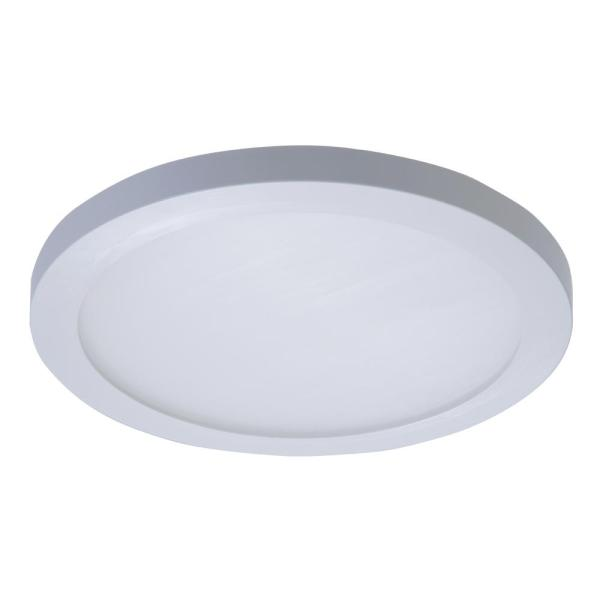 Halo SMD 5 in  and 6 in  White Integrated LED Recessed Round Surface     This review is from SMD 5 in  and 6 in  White Integrated LED Recessed Round Surface  Mount Ceiling Light Fixture at 90 CRI  4000K Cool White