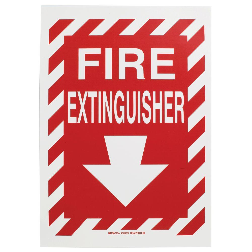 Brady 14 in. x 10 in. Polyester Fire Extinguisher with ...