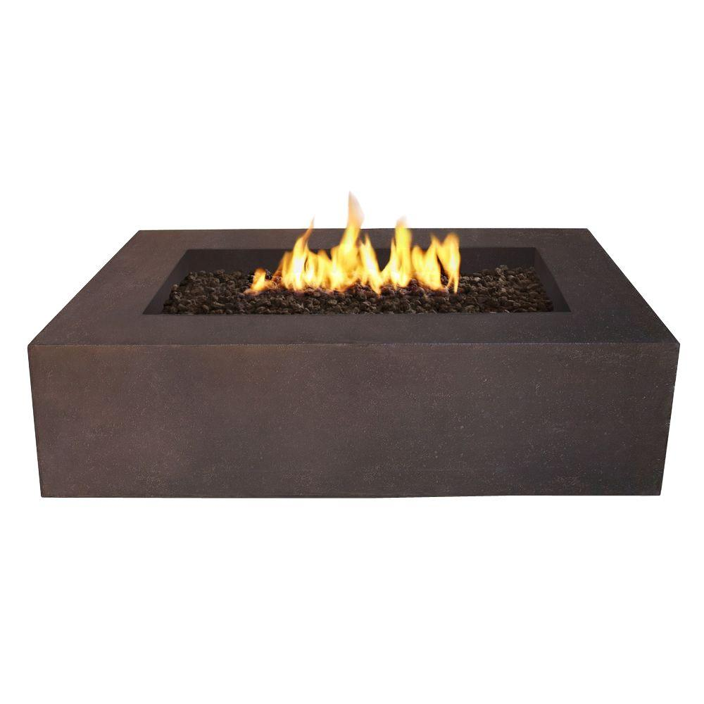 Real Flame Baltic 51 In Rectangle Natural Gas Outdoor