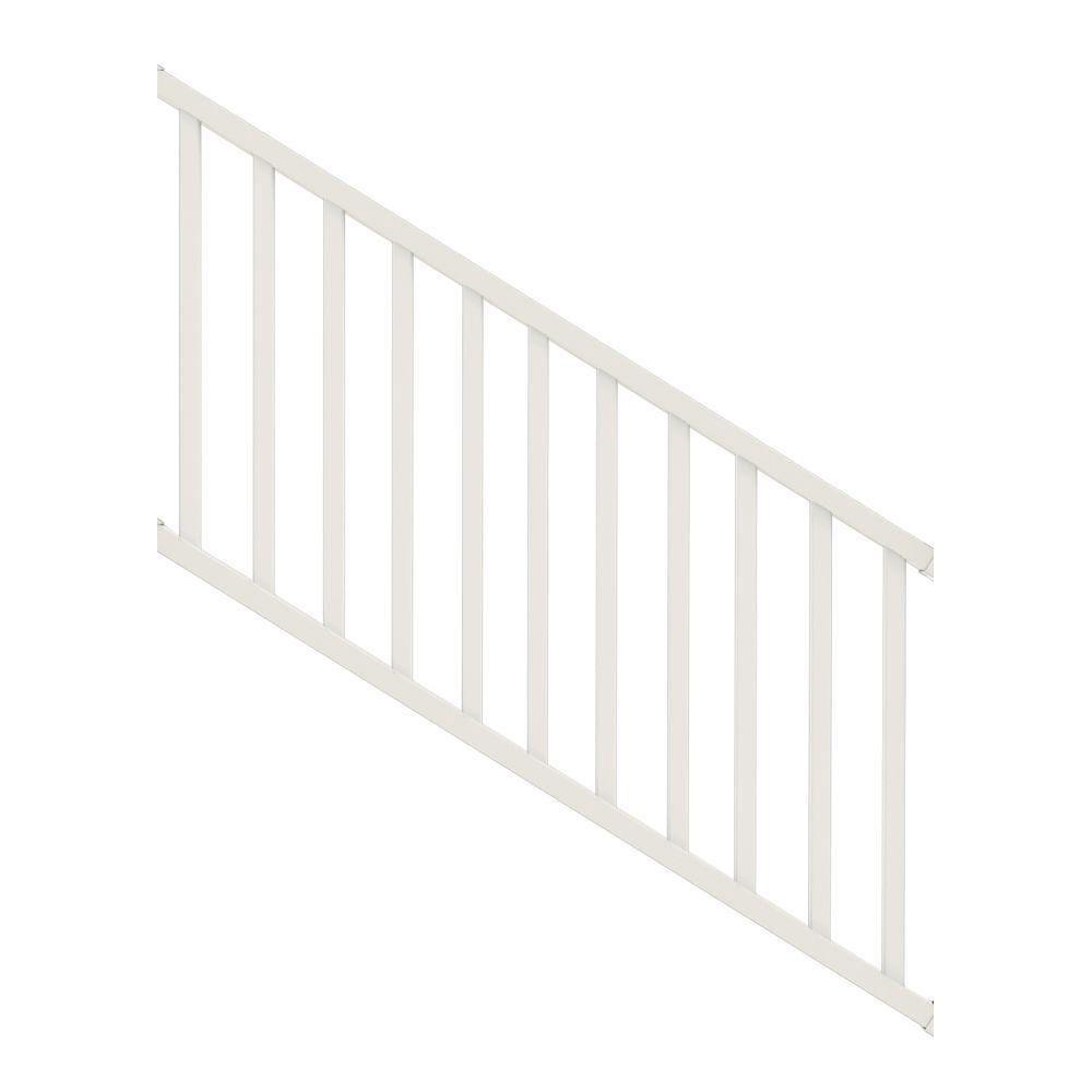 Veranda Select 3 Ft White Vinyl Stair Rail Kit With Square | Modern Stair Railing Home Depot | Iron Stair | Deck Railing | Railing Kits | Cable Railing Systems | Railing Designs