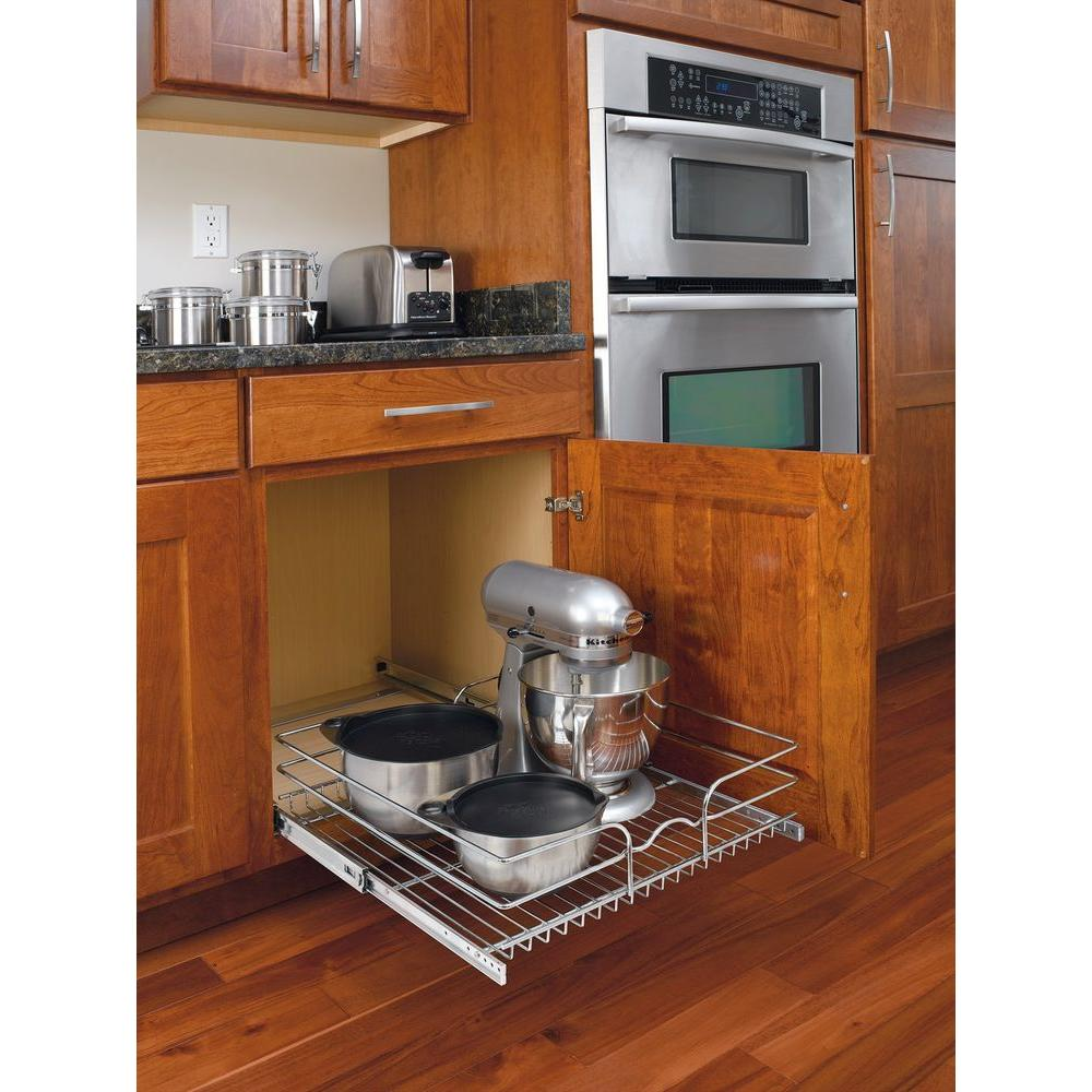 Best Kitchen Gallery: Rev A Shelf 7 In H X 20 75 In W X 22 In D Base Cabi Pull Out of Kitchen Base Cabinet Pull Outs on cal-ite.com
