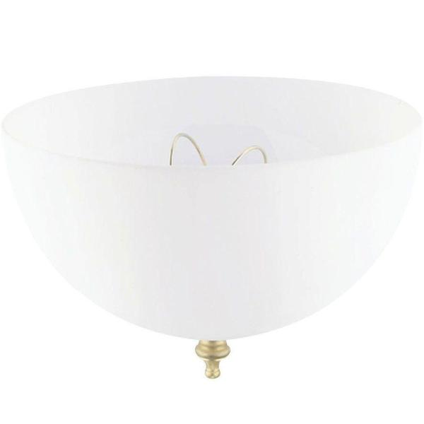 Westinghouse 4 3 4 in  Acrylic White Dome Clip On Shade with 7 3 4     Acrylic White Dome Clip On Shade with