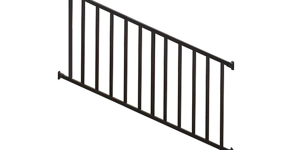 Deck Stair Railings Deck Railings The Home Depot | Railings For Outside Steps | Inexpensive Exterior Hand | Hand | Custom | Vinyl | 5 Step