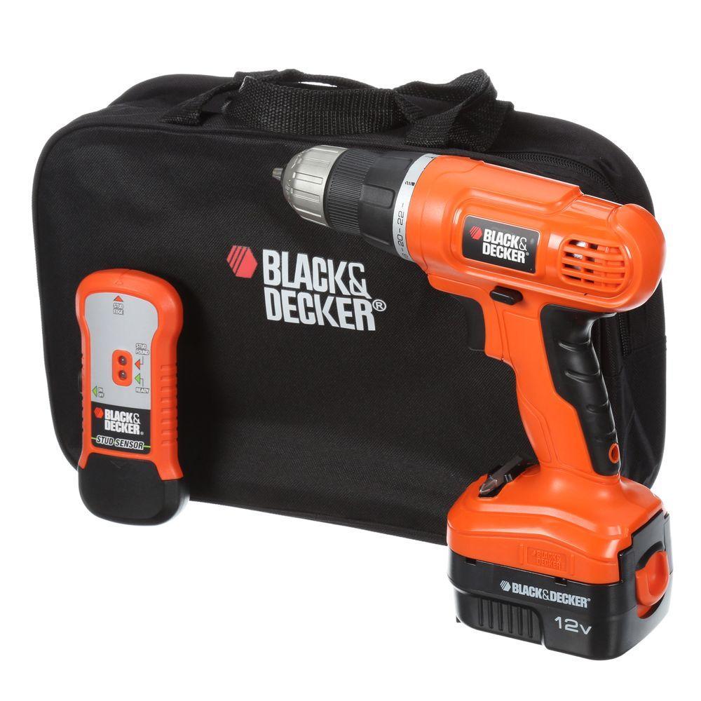 BLACK+DECKER 12-Volt NiCd Cordless Drill with Stud Sensor ...