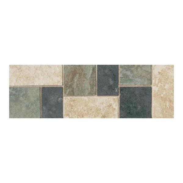 Decorative Accents   Tile   The Home Depot Continental Slate Multi Colored 4 in  x 12 in  Porcelain Decorative Accent